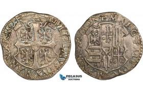 AB362, Italy, Casale Monferato , Guglielmo I Gonzaga, Cavallotto ND (1550-65) Silver (2.56g) Toned VF