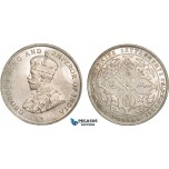 AB367, Straits Settlements, George V, Dollar 1920, Bombay, Silver, Lustrous UNC