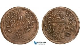 AB375, Sudan, Abdullah Ibn Mohammed, 20 Piastres AH1312/12, Khartoum, Copper, KM# 26, VF-XF