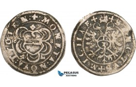AB376, Switzerland, Zug, 3 Kreuzer (Groschen) 1568, Silver (2.02g) HMZ 2-1079e, aVF, Rare!