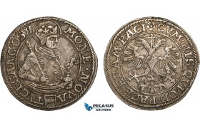 AB377, Switzerland, Zug, Dicken (12 Kreuzer) ND (1565?) Silver (8.37g) HMZ 21078, Toned VF-XF (Scuff)