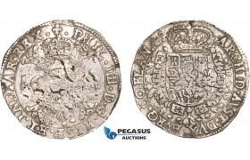 AB380, Belgium, Duchy of Flandern, Patagon 1662, Brugge, Silver (28.08g) Del. 297, Rare!