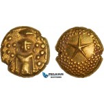 AB383, India (EIC) Madras Presidency, Gold Star Pagoda ND (ca. 1740-1807) Madras mint, Gold (3.39g) AU