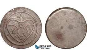 AB384, Malaysia (EIC) Penang, 1 Cent ND (1786) Uniface, Calcutta, Prid. 5, Spots, XF