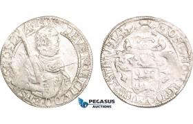 AB387, Netherlands, West Friesland, 1/2 Prinsendaalder 1597, Silver (14.38g) Del. 934, Weak struck, VF, Rare!