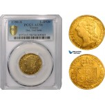 AB397, France, Louis XVI, Louis D'or 1786-A, Paris, Gold, PCGS AU58