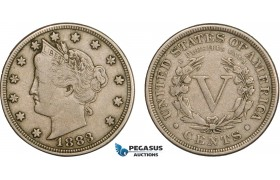 AB411-R, United States, Liberty Nickel (5C) 1883, Philadelphia, VF+