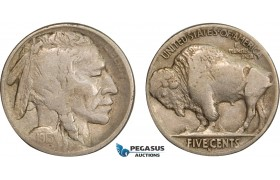 AB412-R, United States, Buffalo Nickel (5C) 1913-S, San Francisco (Type 2) VF+
