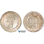 AB418, Denmark, Frederik III, Krone (4 Mark) 1669 GK, Silver (21.12g) Hede 113A, Toned EF