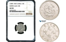 AB436, China, Hupeh, 10 Cents ND (1895-1907) Silver, NGC AU58