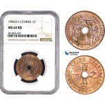 AB469, French Indo-China, 1 Centime 1902-A, Paris, NGC MS64RB