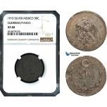 AB493, Mexico, Revolutionary, Guerrero/Taxco, 50 Centavos 1915, Silver, NGC XF40