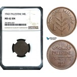 AB504, Palestine, 1 Mil 1943, London, NGC MS62BN