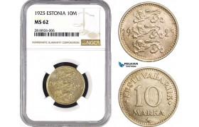AB534, Estonia, 10 Mark 1925, NGC MS62