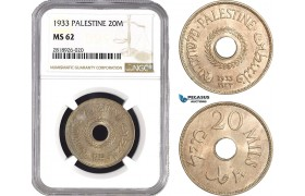 AB548, Palestine, 20 Mils 1933, London, NGC MS62