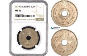 AB548, Palestine, 20 Mils 1933, London, NGC MS62