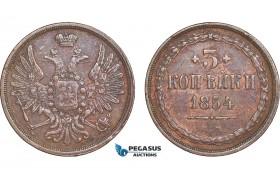 AB572, Russia, Nicholas I, 3 Kopeks 1854 EM, Ekaterinburg, VF-XF