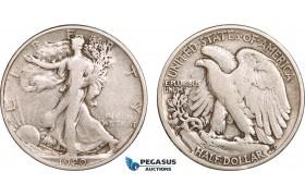 AB576, United States, Walking Liberty Half Dollar (50C) 1920-S, San Francisco, Silver, F-VF