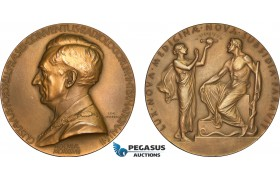 AB590, Sweden, Art Nouveau Bronze Medal 1928 (Ø65.5mm, 94.4g) by Lindberg, Radiology International Convention
