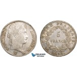 AB599, France, Napoleon, 5 Francs 1812-A, Paris, Silver, Toned XF