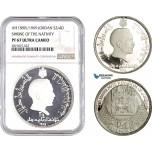 AB709, Jordan, Hussein, 3/4 Dinar AH1389 (1969) Silver