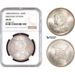 AB733, Portugal, Carlos I, 1000 Reis 1898, Lisbon, Silver,