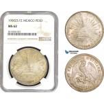 AB809, Mexico, Peso 1900 Zs FZ, Zacatecas, Silver, NGC MS62