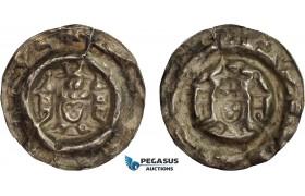 AB831, Bohemia, Premysl Ottokar II, Brakteat ND (1260-78) Silver (0.54g) Die crack, aXF