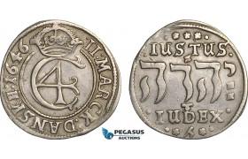 AB832, Denmark, Christian IV, 2 Mark 1646, Copenhagen, Silver (10.52g) H. 148., gVF