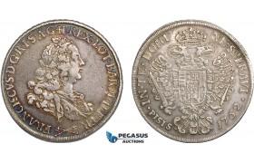 AB836, Italy, Tuscany, Francisc II, Francescone 1762, Florence, Silver (27.16g) Toned VF-XF