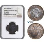 AB854, Canada, Victoria, 1 Cent 1891