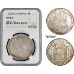 AB886, Mexico, Charles IV, 8 Reales 1793 Mo FM, Mexico City, Silver, NGC MS62