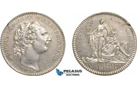 AB930, France & United States, Silver Token 1777 (Ø29mm, 7.22g) by Duvivier, France aids America, Betts-558 variant