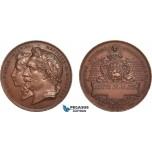 AB932, France & Russia, Bronze Medal 1868 (Ø29.5, 10.9g) by Hamel, Havre International Maritime Exposition