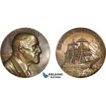 AB935, France, Bronze Medal ND (Ø68mm, 179g) by Lindauer & Richer, Jean Baptiste Charcott, Antarctic Expedition, Rare!