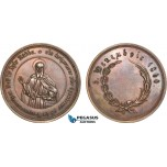 AB938, Greece & Turkey, Bronze Medal 1860 (Ø50mm, 43g) Constantinople, Saint Saba, Founder of Mar Saba Monastery in Palestine