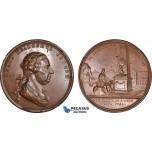 AB941, Russia, Catherine II, Bronze Medal 1772 (Ø65, 98g) by Jaeger, Ivan Betskoy, Obelisk, Elephant, Rare!