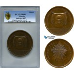 AB942 Russia, Bronze Medal 1839 (Ø62mm) by Utkin, Orthodox Church Reunification, PCGS MS64, Rare!