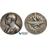 AB961, Sweden, Silver Medal, Alfred Nobel, Undated (Ø27mm, 12.21g) Swedish Medical Society