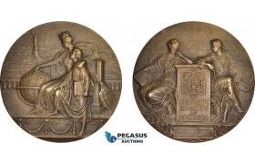 AB962, United States, Bronze Art Nouveau Medal 1906 (Ø76mm, 157g) by Fuchs, Hispanic Society of America