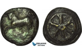 AB984, Roman Republic, Anonymous. Ca. 230 BC. Æ Aes Grave Triens (Ø42.5mm, 102g) Later Cast?