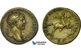 AB986, Roman Empire, Trajan (AD 98-117) Æ Dupondius (11.28g) Rome, AD 105-107., Dacian