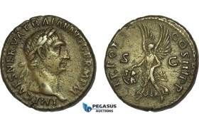 AB988, Roman Empire, Trajan (AD 98-117) Æ As (11.38g) Rome, AD 99-100., Victory