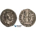 AB994, Roman Empire, Hadrian (AD 117-138) AR Denarius (2.90g) Rome, AD 134-138, Roma, Rare!