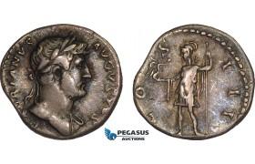 AB996, Roman Empire, Hadrian (AD 117-138) AR Denarius (3.29g) Rome, AD 125-128, Roma