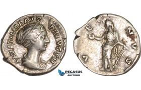 AC002, Roman Empire, Faustina II (AD 147-175) AR Denarius (3.16g) Rome, AD 161-164, Venus