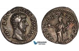 AC005, Roman Empire, Lucius Verus (AD 161-169) AR Denarius (3.19g) Rome, AD 161-162, Providentia