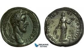 AC006, Roman Empire, Commodus (AD 177-192) Æ Sestertius (28.17g) Rome, AD 183, Fides