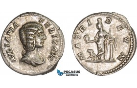 AC009, Roman Empire, Julia Domna (AD 211-217) AR Denarius (3.08g) Rome, AD 212, Cybele