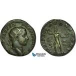 AC013, Roman Empire, Severus Alexander (AD 222-235) Æ Dupondius (8.25g) Rome, AD 232, Jupiter